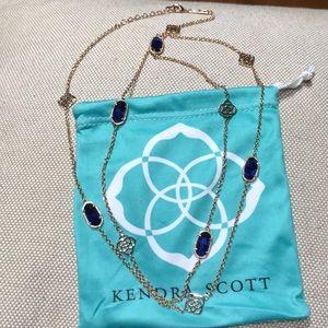 Kendra Scott Sonya Rose Gold Neck w/ blue stones